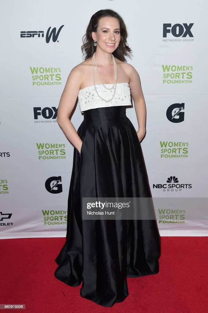 Figure skater Sarah Hughes attends The Women's Sports Foundation's 38th Annual Salute To Women in Sports Awards Gala on October 18, 2017 in New York City.