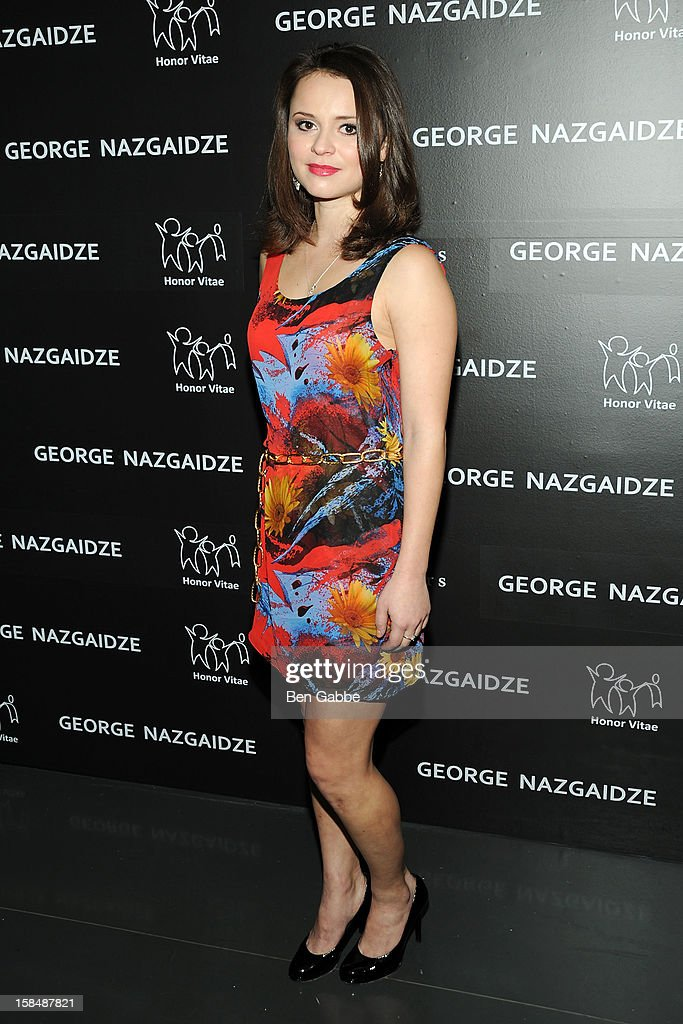 Figure skater Sasha Cohen attends Charity Meets Fashion Holiday Celebration Honoring The World's Children at Affirmation Arts on December 17, 2012 in New York City.