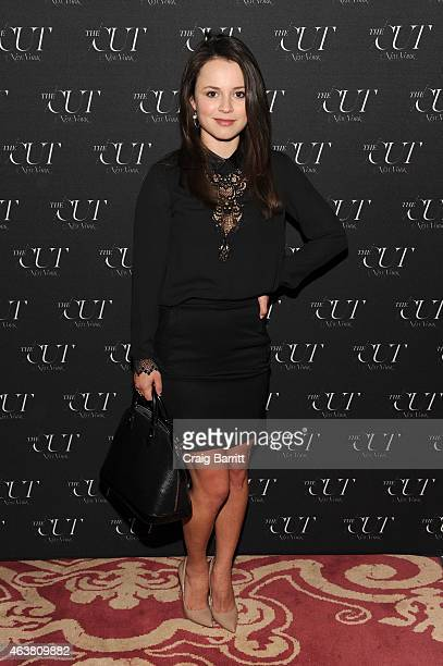 Figure skater Sasha Cohen attends The Cut New York Magazine's Fashion Week Party at Gramercy Park Hotel on February 18 2015 in New York City