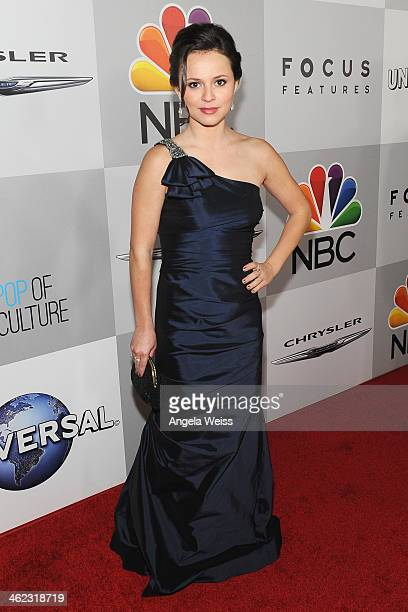 Figure skater Sasha Cohen attends the Universal NBC Focus Features E sponsored by Chrysler viewing and after party with Gold Meets Golden held at The...
