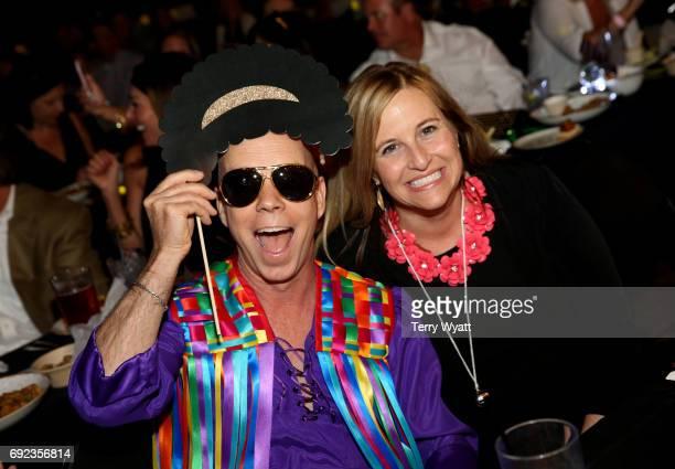 Figure skater Scott Hamilton and Mayor of Nashville Megan Barry attend the Nashville Disco Party Benefiting Alzheimer's Association on June 4 2017 in...