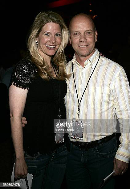 Figure skater Scott Hamilton and wife Tracie arrive at the 11th Annual Tiger Jam benefit concert hosted by Tiger Woods and featuring Van Halen at the...