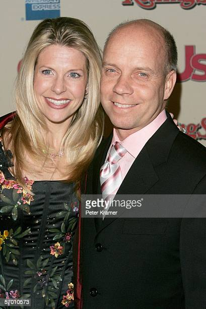 Figure skater Scott Hamilton and wife Tracie Robinson arrive at the Us Weekly and Rolling Stone Oscar Party held at the Pacific Design Center on...