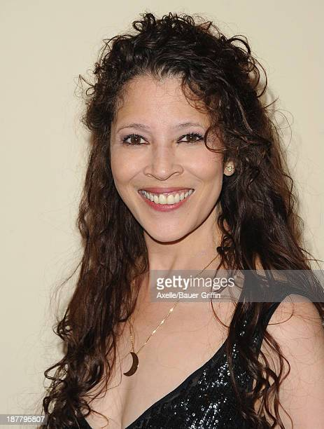 Figure skater Tai Babilonia arrives at the All Sports Film Festival closing ceremony at El Portal Theatre on November 11 2013 in North Hollywood...
