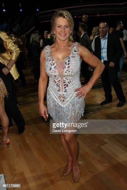 Figure skater Tonya Harding poses at ABC's 'Dancing with the Stars Athletes' Season 26 Finale on May 21 2018 in Los Angeles California