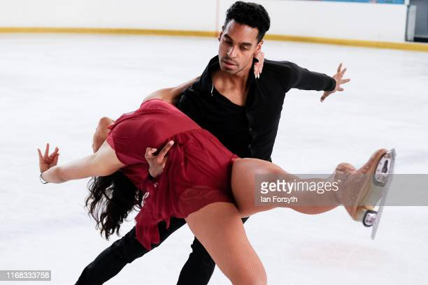 Figure skater Vanessa Bauer and Swiss National Champion Oscar Peter perform during final rehearsals for the world premiere ice skating performance of...