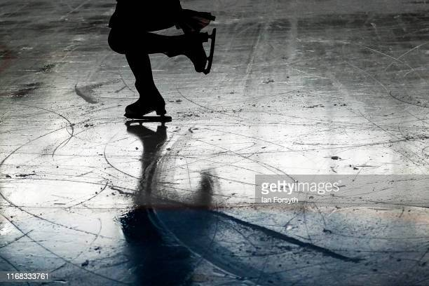 Figure skater Vanessa Bauer performs during final rehearsals for the world premiere ice skating performance of The Creative Spirit of John Curry at...