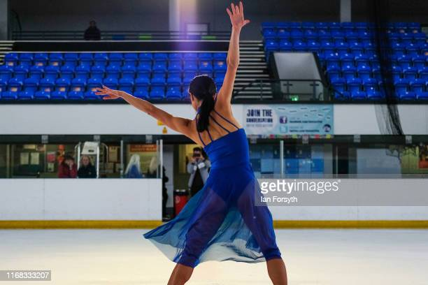 Figure skater Yebin Mok performs during final rehearsals for the world premiere ice skating performance of The Creative Spirit of John Curry at the...