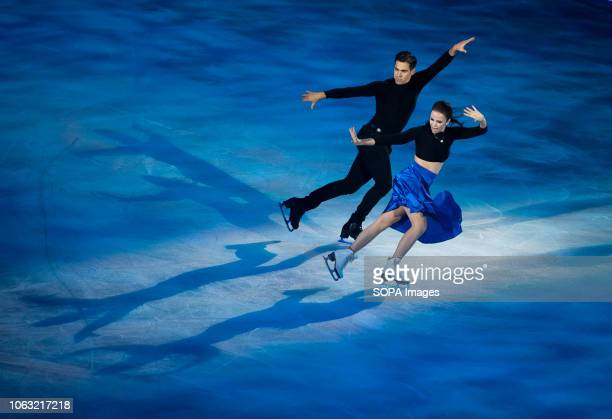 Figure skaters Anna Capellini and Luca Lanotte perform on the ice in the show 'Eternally' during the 'Revolution on Ice Tour show' Revolution on Ice...