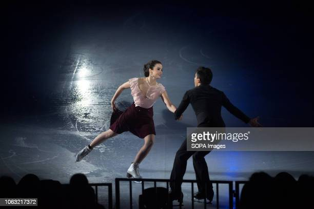 Figure skaters Anna Capellini and Luca Lanotte seen performing during the show Revolution on Ice Tour show is a spectacle of figure skating on ice...