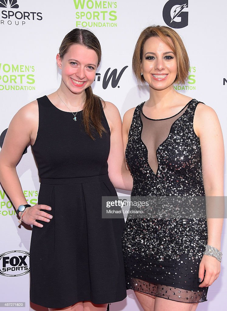 Figure Skaters Emily Hughes and Sarah Hughes attend the Women's Sports Foundation's 35th Annual Salute to Women In Sports awards, a celebration and a fundraiser to ensure more girls and women have access to sports, at Cipriani Wall Street on October 15, 2014 in New York City.