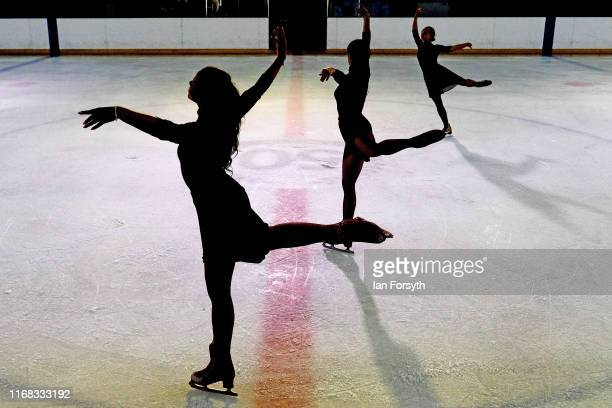 Figure skaters perform during the final rehearsals for the world premiere ice skating performance of The Creative Spirit of John Curry at the...