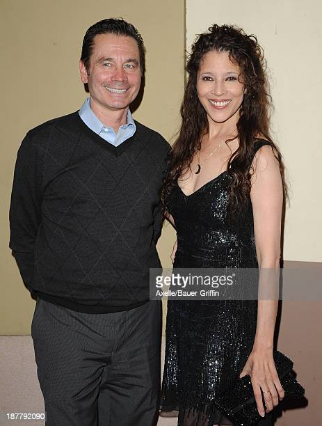 Figure skaters Randy Gardner and Tai Babilonia arrive at the All Sports Film Festival closing ceremony> at El Portal Theatre on November 11 2013 in...