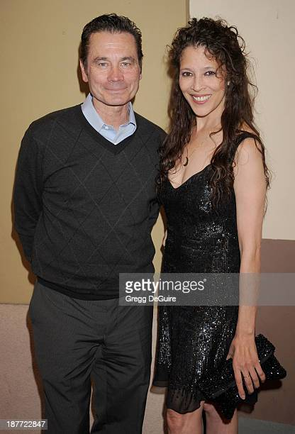 Figure skaters Tai Babilonia and Randy Gardner arrive at the All Sports Film Festival closing ceremony at El Portal Theatre on November 11 2013 in...