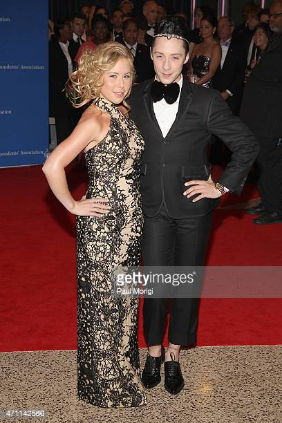 Figure skaters Tara Lipinski and Johnny Weir attend the 101st Annual White House Correspondents' Association Dinner at the Washington Hilton on April...