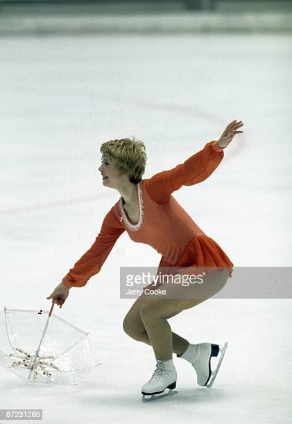 1972 Winter Olympics Canada Karen Magnussen in action during Ladies Program at Mikaho Indoor Skating Rink Sapporo Japan 2/9/1972 CREDIT Jerry Cooke