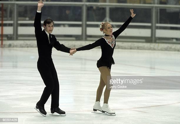 1972 Winter Olympics USA JoJo Starbuck and Ken Shelley in action during Pairs Program at Makomanai Indoor Stadium Sapporo Japan 2/10/1972 CREDIT...