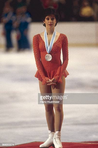 1980 Winter Olympics USA Linda Fratianne during award ceremony after winning Ladies silver medal at Olympic Center Lake Placid NY 2/23/1980 CREDIT...