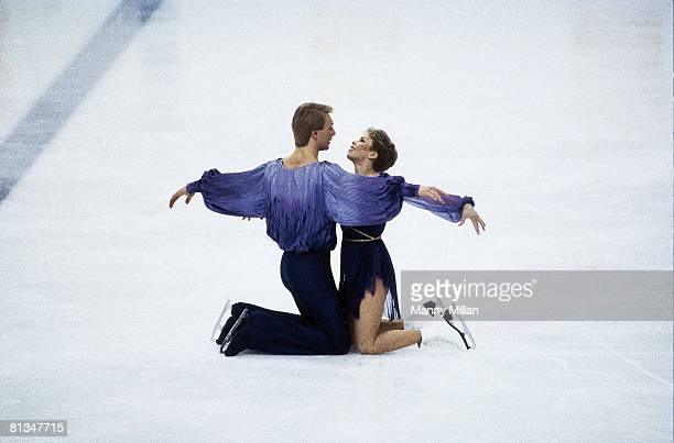Figure Skating 1984 Winter Olympics GBR Jayne Torvill and Christopher Dean in action during pair competition Sarajevo YUG 2/14/1984