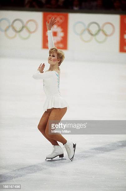 1984 Winter Olympics USA Rosalyn Sumners in action during Women's Singles program at Olympic Hall Zetra Sarajevo Yugoslavia 2/15/1984 2/18/1984...