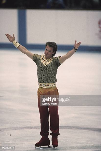 1992 Winter Olympics Canada Kurt Browning in action during Men's Program at Halle Olympique Albertville France 2/8/19922/15/1992 CREDIT Manny Millan