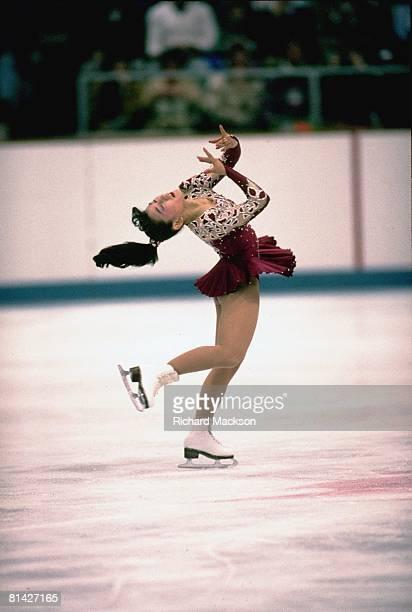 Figure Skating 1992 Winter Olympics JPN Midori Ito in action during long program Albertville FRA 2/21/1992