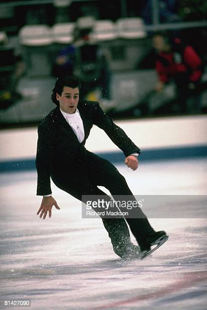 Figure Skating 1992 Winter Olympics USA Christopher Bowman in action during Freestyle competition at Halle Olympique Albertville France 2/1/1992
