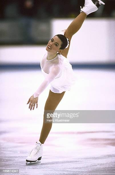 1992 Winter Olympics USA Nancy Kerrigan in action during Women's Free Skating at Halle Olympique Albertville France 2/21/1992 CREDIT Heinz Kluetmeier
