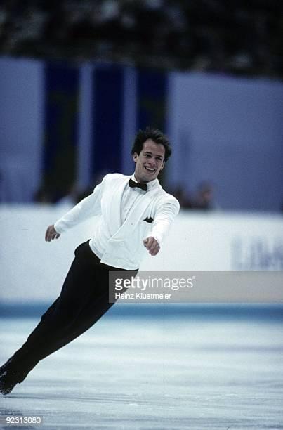 1994 Winter Olympics Canada Kurt Browning in action during Men's Free Skate Program at Hamar Olympic Amphitheatre Hamar Norway 2/13/19942/27/1994...