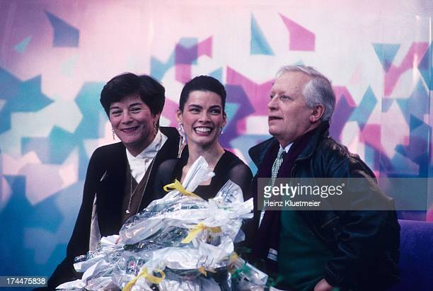 1994 Winter Olympics USA Nancy Kerrigan with flowers after Women's Technical Skating at Olympic Amphitheatre Hamar Norway 2/23/1994 CREDIT Heinz...