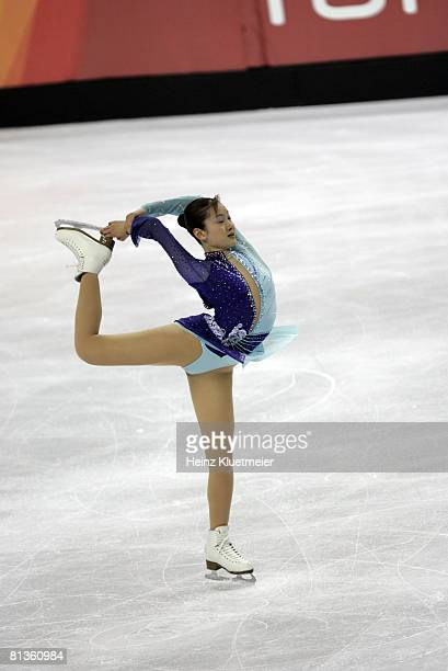 Figure Skating 2006 Winter Olympics Japan Shizuka Arakawa after Ladies' Free Skating at Palavela Turin Italy 2/23/2006