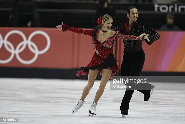 Figure Skating: 2006 Winter Olympics, USA Tanith Belbin and Benjamin Agosto in action during Ice Dancing - Free Dance competition at Palavela, Turin,...