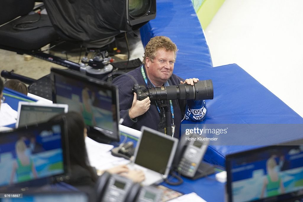 SI photographer Bob Martin during Women's Short Program at Pacific Coliseum. Vancouver, Canada 2/23/2010