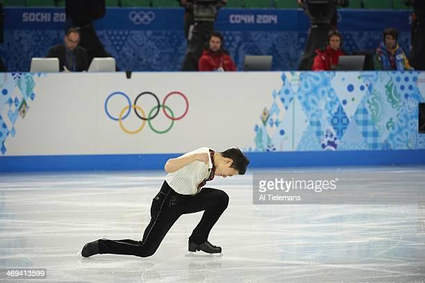 2014 Winter Olympics Kazakhstan Denis Ten in action during Men's Free Skate Program at Iceberg Skating Palace Ten won bronze Sochi Russia 2/14/2014...