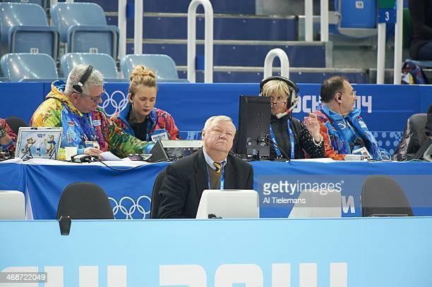Winter Olympics: View of judge during Team Women's Short Program at Iceberg Skating Palace. Sochi, Russia 2/8/2014 CREDIT: Al Tielemans