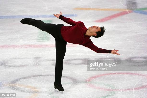 2018 Winter Olympics Canada Patrick Chan in action during Men's Single Free Skating Finals at Gangneung Ice Arena Gangneung South Korea 2/17/2018...
