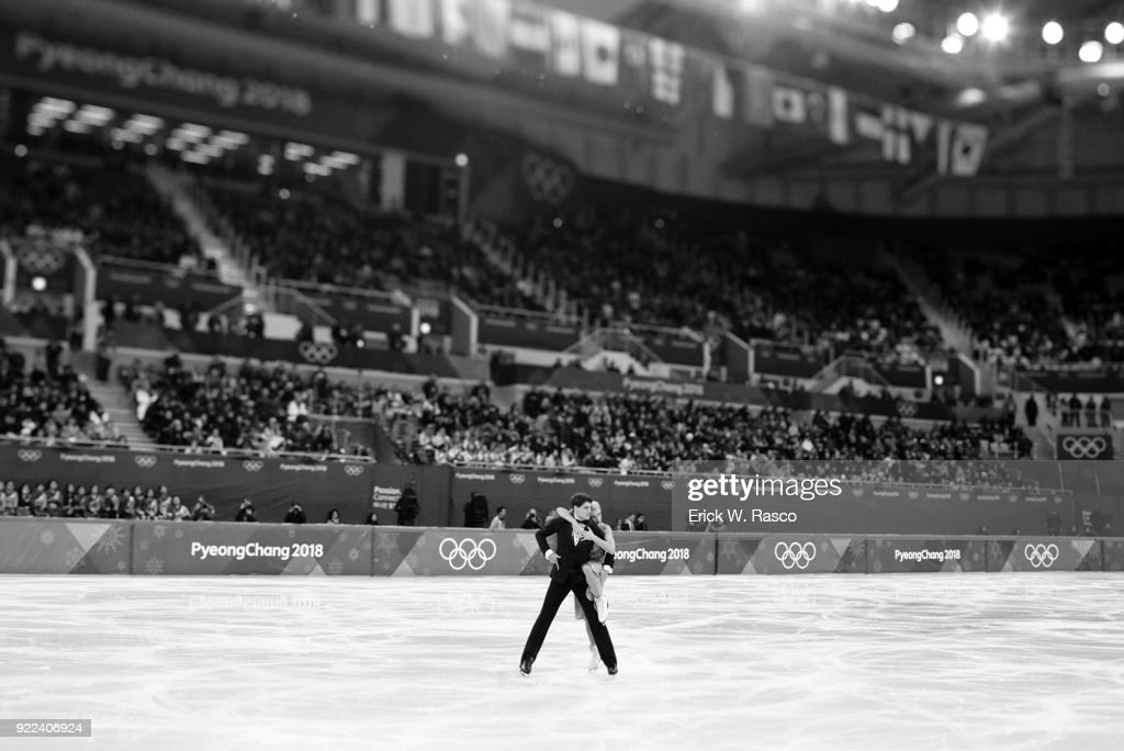 Canada Piper Gilles and Paul Poirier in action during Ice Dance Free Dance at Gangneung Ice Arena. Erick W. Rasco X161686 TK1 )
