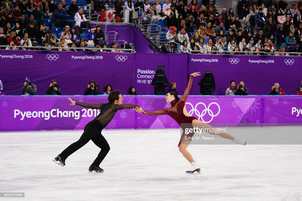 Canada Tessa Virtue and Scott Moir in action during Ice Dance Free Dance at Gangneung Ice Arena. Canada won gold medal. Erick W. Rasco X161686 TK1 )