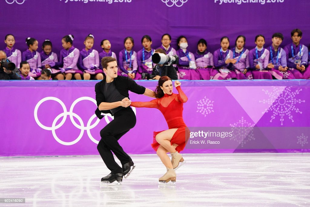 France Marie-Jade Lauriault and Romain Le Gac in action during Ice Dance Free Dance at Gangneung Ice Arena. Erick W. Rasco X161686 TK1 )
