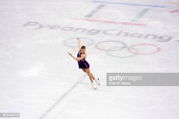 2018 Winter Olympics Italy Carolina Kostner in action during Women's Single Free Skating Final at Gangneung Ice Arena Gangneung South Korea 2/23/2018...