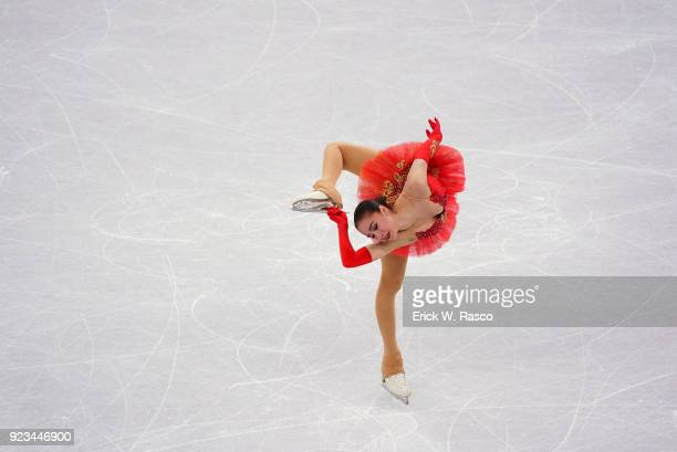 2018 Winter Olympics Olympic Athletes from Russia Alina Zagitova in action during Women's Single Free Skating Final at Gangneung Ice Arena Zagitova...