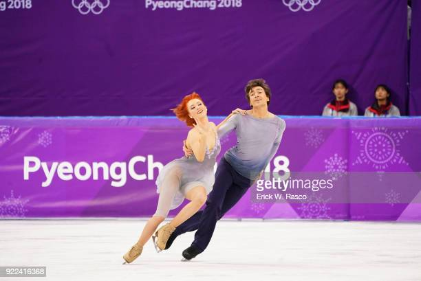 2018 Winter Olympics Olympic Athletes from Russia Tiffani Zagorski and Jonathan Guerreiro in action during Ice Dance Free Dance at Gangneung Ice...