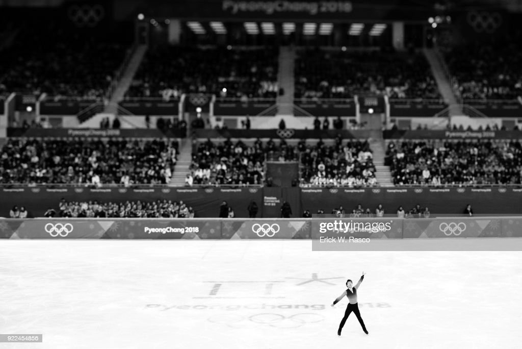 Overall view of China Jin Boyang during Men's Single Free Skating Final at Gangneung Ice Arena. Erick W. Rasco X161683 TK1 )