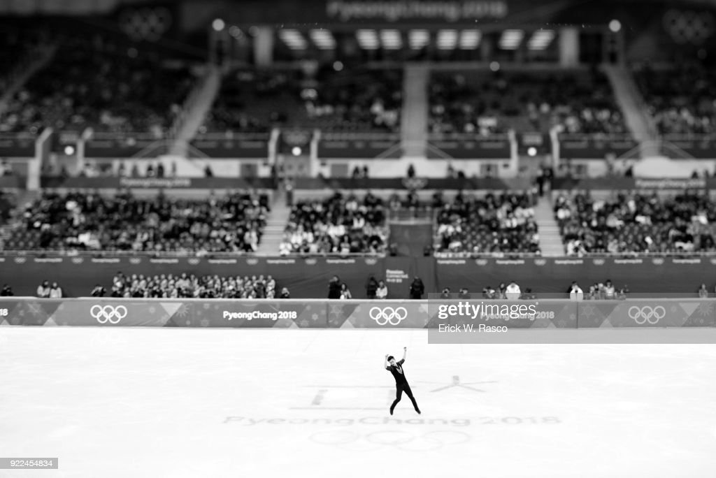 Overall view of China Yan Han in action during Men's Single Free Skating Final at Gangneung Ice Arena. Erick W. Rasco X161683 TK1 )