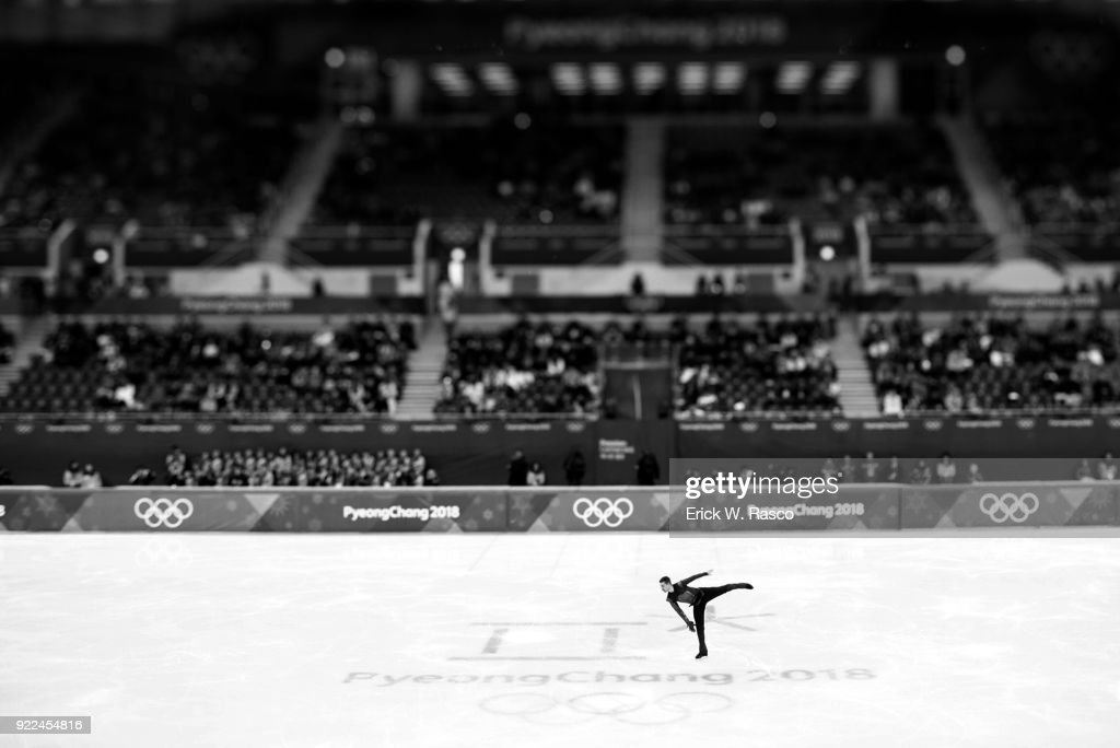 Overall view of Germany Paul Fentz in action during Men's Single Free Skating Final at Gangneung Ice Arena. Erick W. Rasco X161683 TK1 )