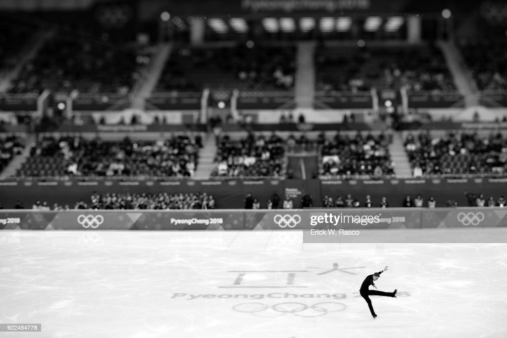 Overall view of Italy Matteo Rizzo in action during Men's Single Free Skating Final at Gangneung Ice Arena. Erick W. Rasco X161683 TK1 )