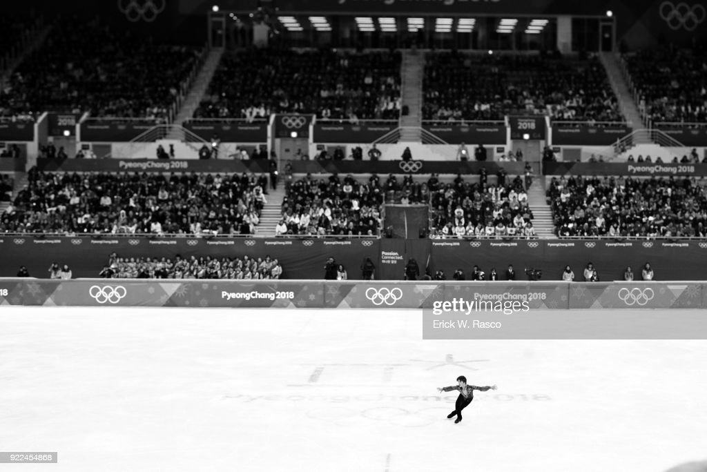 Overall view of Japan Shoma Uno in action during Men's Single Free Skating Final at Gangneung Ice Arena. Erick W. Rasco X161683 TK1 )