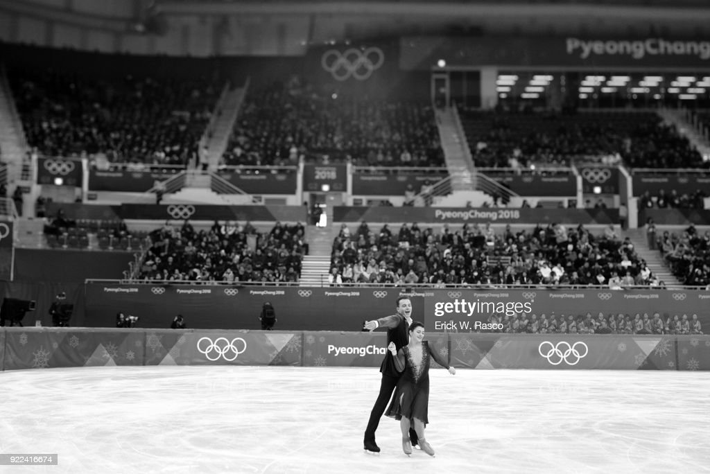 Poland Natalia Kaliszek and Maksym Spodyriev in action during Ice Dance Free Dance at Gangneung Ice Arena. Erick W. Rasco X161686 TK1 )