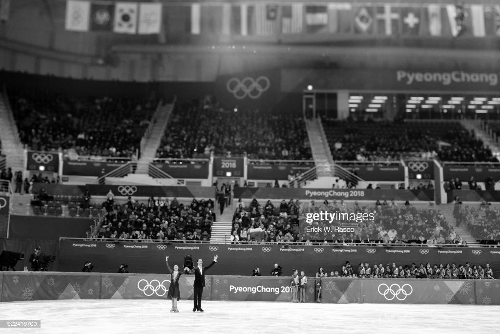 Poland Natalia Kaliszek and Maksym Spodyriev in action during Ice Dance Free Dance at Gangneung Ice Arena. Erick W. Rasco X161686 TK1 )