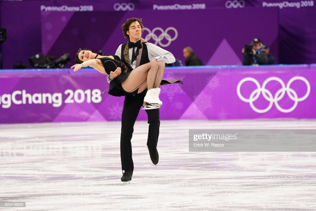 Slovakia Lucie Mysliveckova and Lukas Csolley in action during Ice Dance Free Dance at Gangneung Ice Arena. Erick W. Rasco X161686 TK1 )
